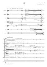 Pli : pour chœur mixte a cappella, chœur d'enfants, chœur de débutants et percussion / Violeta Cruz | Cruz, Violeta (1986-). Compositeur