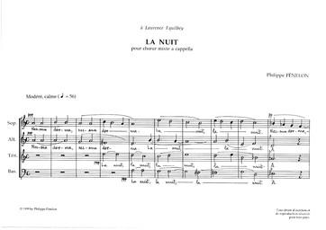 La Nuit : pour chœur mixte a cappella / Philippe Fénelon | Fénelon, Philippe (1952-....). Compositeur