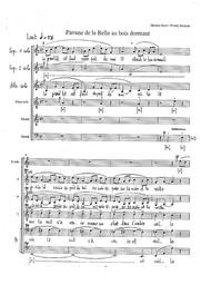 Ma mère l'Oye, Pavane de la Belle au bois dormant [Transcription] / Maurice Ravel |